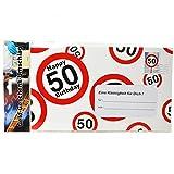 Geburtstag Riesen Umschlag 50 Jahre für Geldgeschenke Party Deko Birtday