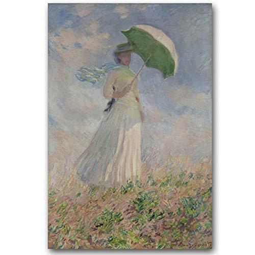 WSWWYClaudio Monet Original Landschaft Ölgemälde Rahmenlose Leinwand Gemälde Meisterwerk (Druck) EIN 50x70cm Kein Rahmen