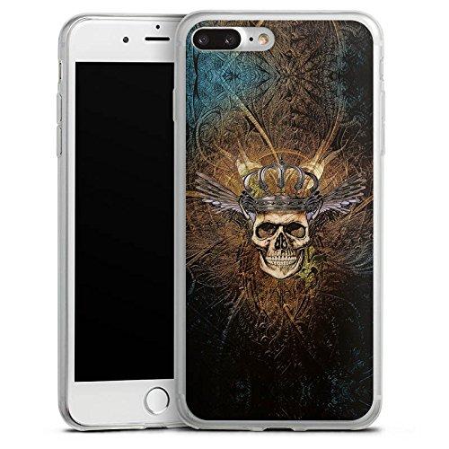 Apple iPhone 8 Plus Slim Case Silikon Hülle Schutzhülle Skull König King Silikon Slim Case transparent