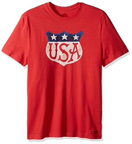 life-is-good-uomo-crusher-tee-usa-shield-uomo-americana-red-xxl