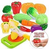 Legumes et fruits jouet a decouper dînette cuisine Jouets Imitation Peradix Jeu de couper de légumes plastique pour enfants(14pcs)
