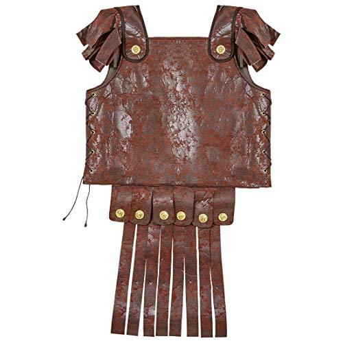 NET TOYS Römische Rüstung für Erwachsene | Braun | Außergewöhnliches Herren-Kostüm Gladiator-Harnisch aus Leder-Imitat | Passend gekleidet für Fasching & Karneval