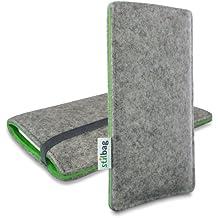 Stilbag Funda de fieltro 'FINN' para Huawei Nexus 6P - Color gris/verde