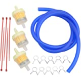 GOOFIT yellow moto Fuel Filter Line Spring Clips Clamps Tube Hose Inner Dia Motorcycle Oil Gasoline Universal Dirt ATV…