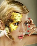 20pcs pure Gold Leaf Face Mask 99% 24K Gold 4.3 X 4.3cm Anti-age, Acne Treatment & whitening