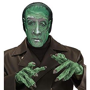 WIDMANN vd-wdm03598Máscara Monstruo Laboratorio de tela, verde, talla única
