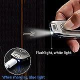 lingan Feuerzeuge USB Feuerzeug Tragbare wiederaufladbare flammenlose winddicht Elektronische Zigarette Feuerzeug mit Schlüsselanhänger Taschenlampe, blau Vergleich