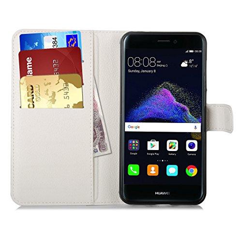 Preisvergleich Produktbild Huawei P8 Lite 2017 Hülle, IVSO Hohe Qualität Advanced Shock Absorption Technology Case Folio Tasche Cover für Huawei P8 Lite 2017 Smartphone (Für Huawei P8 Lite 2017, Weiß)