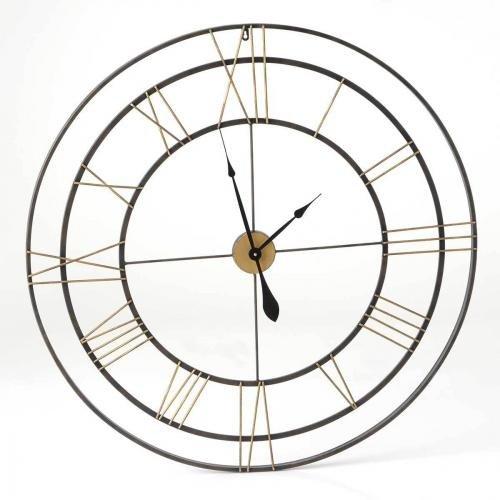 Grande horloge métal fin de 100 cm