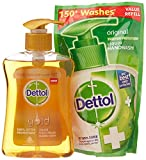 #2: Dettol Gold Liquid Hand Wash Classic Clean - 250 ml with Free Dettol Pouch - 185 ml