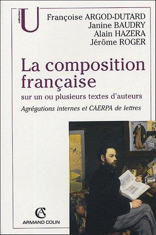 La composition française sur un ou plusieurs textes d'auteurs : Agrégations internes et CAERPA de lettre