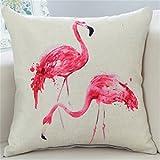 Gluckliy Flamingo Weiche Plüsch Wurf Sofa Kissen Auto Kissenbezug,45 * 45 cm (Paar Flamingos)