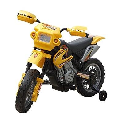 SENLUOWX Kinder Motorrad 2 km/h Akku Gelb Kinderfahrzeug WARNHINWEIS: Nicht für Kinder unter 36 Monaten geeignet. von SENLUOWX