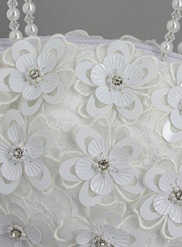 Boutique-Magique Borsa a mano Matrimonio Bambino o Adulto Bianco o Ecru–Prodotto stocké e svelta da la Francia Bianco