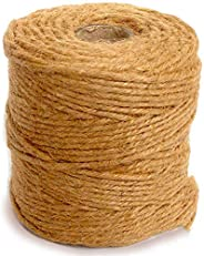 Excefore 333 Feet Jute Rope 3mm Natural Thick Jute Twine String for Floristry Gifts Wrapping DIY Arts & Cr