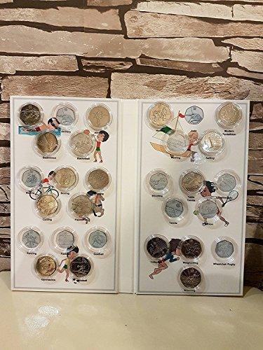 Royal Mint Sportmünzenalbum für 50 Penny Münzen der Olympischen Spiele 2012 in London, leeres Album, englischsprachig