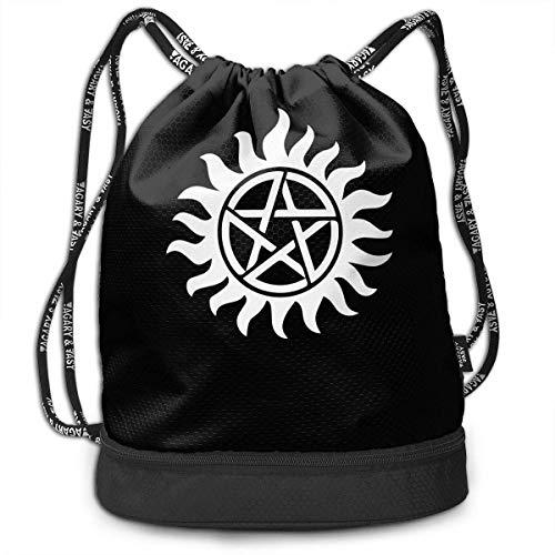 wwoman Supernatural Drawstring Bag für Herren und Damen, 100% Polyester Durable Handtaschen -