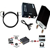 Easyday Digital Analógico Convertidor analógico RCA Audio Converter - Optical Toslink SPDIF to Analog Coax Coaxial L/R Support 3.5mm Jack and 192KHz