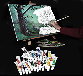 Daveliou Oil Paints Set – 12ml X 24 Colour Paint Tubes – Non Toxic Painting Kit For Beginners Students & Artists 14