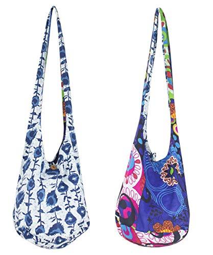Sunsa Damen Tasche Umhängetasche Handtasche klein Baumwolle Hobo bag Teenager praktische Geschenke Bags for Women Schultertasche lässig Damentaschen sale kleine Boho Einkaufstasche Stoffbeutel