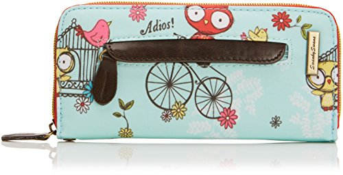 Swankyswans Damen Pembleton Owl Front Zipper Wallet Geldbörse, Babyblau, one Size -