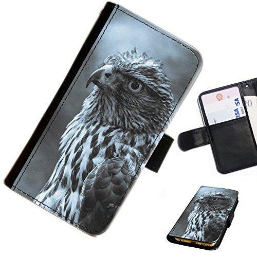 Iphone 3g Adler (Hairyworm- Adler Apple Iphone 3G, 3Gs Leder Klapphülle Etui Handy Tasche, Deckel mit Kartenfächern, Geldscheinfach und Magnetverschluss.)