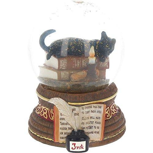 Lisa Parker - die Geisterstunde-Schneekugel, Schneekugel mit schwarzer Katze und Kerze (Lisa Parker Geisterstunde)