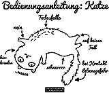 CLICKANDPRINT Aufkleber » Bedienungsanleitung: Katze, 30x23,8cm, Schwarz • Wandtattoo / Wandaufkleber / Wandsticker / Wanddeko / Vinyl