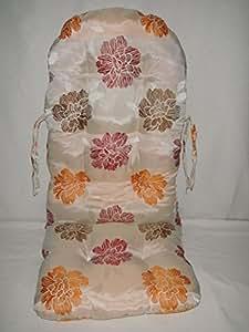 Polster Für Schaukelstuhl : rattan im trend schaukelstuhl auflage polster kissen farbe beige blume orange rot ~ Watch28wear.com Haus und Dekorationen