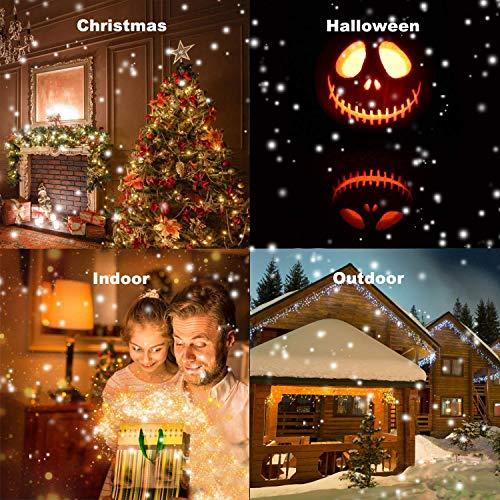 Ying-feirt Weihnachten Halloween Fenster Projektor 12 Film Festival Projektionslampe Weihnachten Outdoor Gartendekoration
