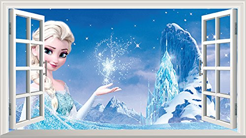 Frozen V1 Full Farbe Magic Fenster Bild Wandtattoo Preispiraten De