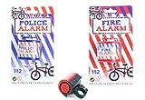 toi-toys–Polizei/Feuerwehr Klingel für Fahrrad Batteriebetrieben, 55001A, Mehrfarbig