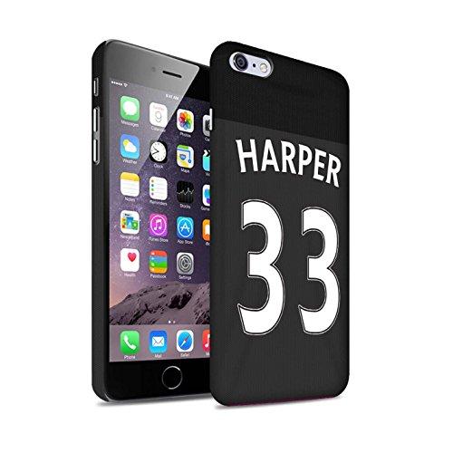 Offiziell Sunderland AFC Hülle / Matte Snap-On Case für Apple iPhone 6+/Plus 5.5 / Pack 24pcs Muster / SAFC Trikot Away 15/16 Kollektion Harper