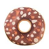 hshi weicher Plüsch-Kissenbezug mit Sitzpolster Sweet Donut Foods Kissenbezug, mit Spielzeug, Sofa-Kunst, Heimdekoration, Schwarz, 1