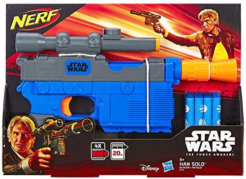 Hasbro Nerf Star Wars Episode 7 Han Solo Blaster mit internem Clip für 4 Darts (Kopfgeldjäger-kostüm-star Wars)