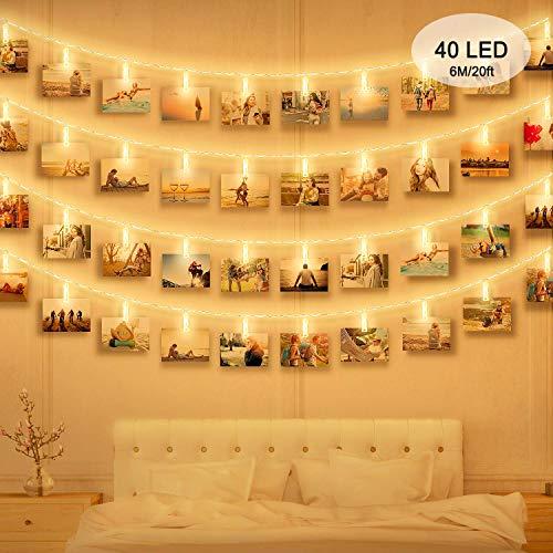 Appendi le tue foto con clip foto a luce LED massway, non sigillare i tuoi preziosi ricordi nell'album! ▶meravigliosa decorazione - -aggiungere qualcosa di speciale alla vostra camera da letto, stanza, Dormitorio, matrimoni, feste ▶robusta clip &...
