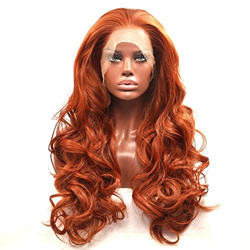 Lace Wig Wiged Naranja Natural Peine El Cabello De