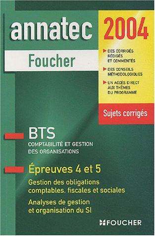 Annatec Foucher : Étude de cas de gestion, BTS