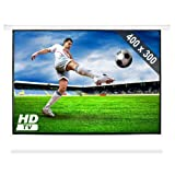 FrontStage PSAC-200 • Beamer Leinwand • Motorleinwand • Projektor Leinwand • Heimkino • 400 x 300 cm • Bilddiagonale 508 cm • 200 Zoll • für HDTV optimiert • motorgetriebener Ein- und Auszug • weiß