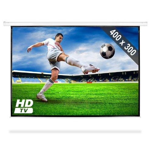 Diagonale Lcd-hdtv (FrontStage PSAC-200 • Beamer Leinwand • Motorleinwand • Projektor Leinwand • Heimkino • 400 x 300 cm • Bilddiagonale 508 cm • 200 Zoll • für HDTV optimiert • motorgetriebener EIN- und Auszug • weiß)