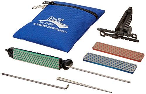 DMT Deluxe Aligner-Kit, 3 Schleifsteine mit Diamanten/1 Schärfer für gezahnte Klingen, 1 Stück, ADELUXE (Whetstone Kit)