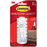 Command Large Plastic Utility Hook(White,1 hook and 2 strips), Damage-Free Hanging, Holds Strongly