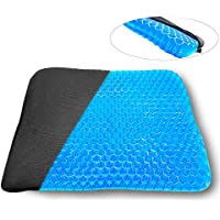 TBSDQLTEV Gel Seat Cushion, Egg Seat Cushion Chair Pads with Non-Slip Cover for Home,Office,Car,Wheelchair, Breathable Sitter Cushion Design Help Relieve Pain