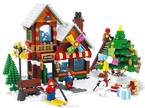 Ausini con la marca invierno tienda de juguetes Árbol de Navidad ciudad creator / 812pzas compatible bloques de construcción #25611