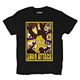 T Shirt Basket Vintage Parodie Shaquille All Star O 'Neal Shaq Attack 1 XXL Black Opal