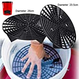 Car Wash Grit Guard Sand Stone Isolation Net for Scratches Preventing Wash Microfiber Towel Cloth Sponge Polishing Pad Cleaning : Black 23.5 Dia.