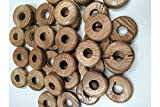 Staingard Tubería de radiador (Rosettes–Bulk Bolsas de 50Natural o–Madera de Roble–Color Blanco o Plateado plástico