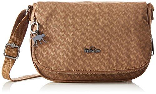 Kipling Women's EARTHBEAT S Cross-Body Bag, Beige (44o Camel Emb), 26x17x7 cm