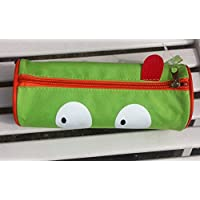 Deluxe Cylinder Light Green Pencil Case Make Up Case - 21cm x 11 cm with Zip Fastener - Deluxe Pencil Case