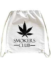 Mister Merchandise Mochila Bolso Saco Smokers Club - Weed Cannabis bolsa de la compra